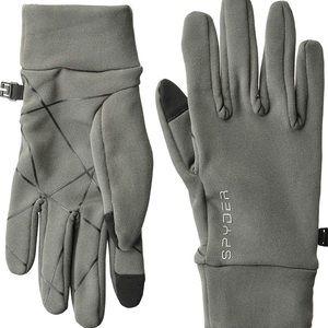 BRAND NEW spyder gloves smart touch gray